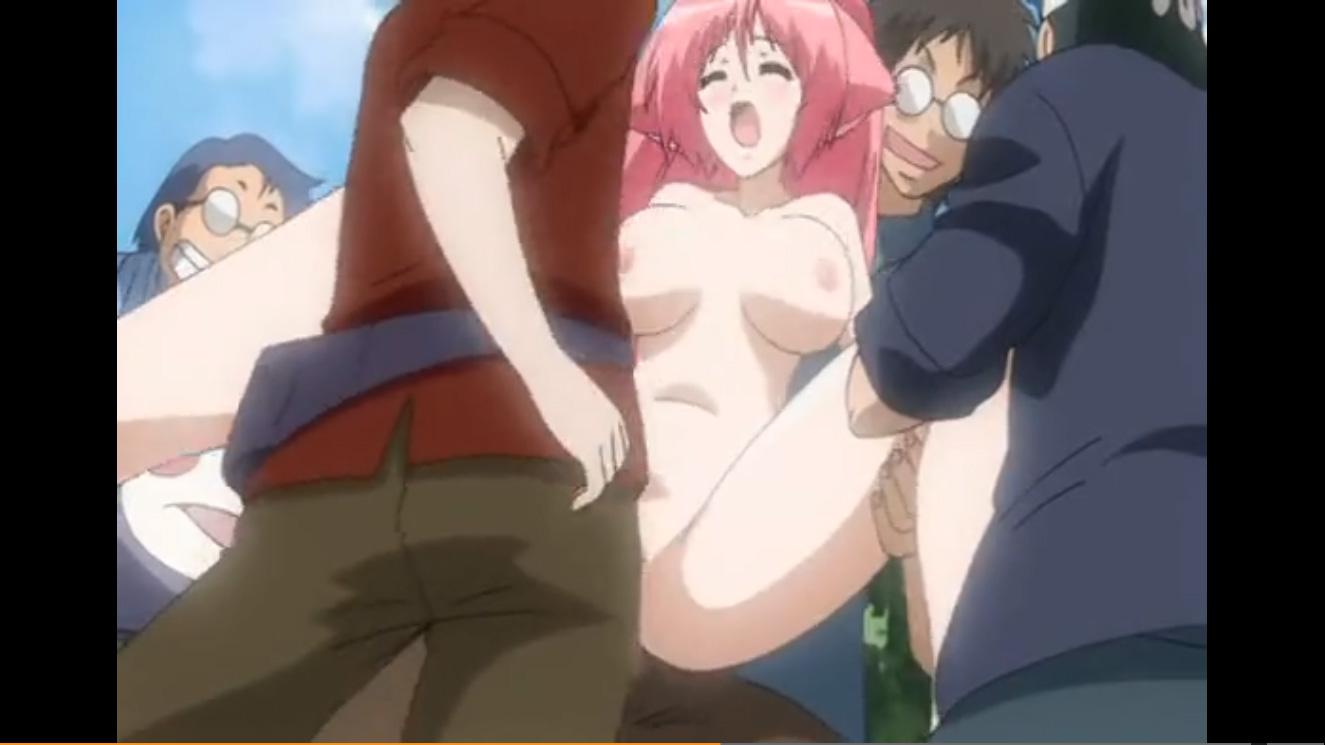 【エロアニメ コスプレ美少女集団レイプ】警備をするはずがオタクに囲まれ中出しレイプされるミュータント美少女☆